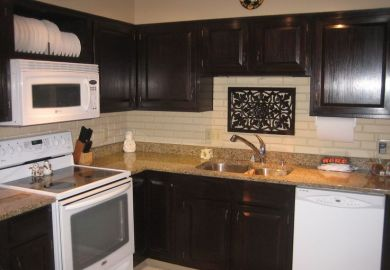 Darken Kitchen Cabinets With Gel Stain