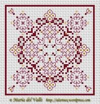 free chart biscornu cross stitch | kasuti | Pinterest