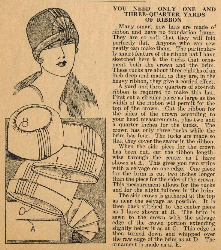 Home Sewing Tips from the 1920s - Make a Cloche from Ribbon