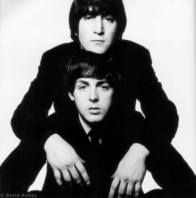 Paul McCartney & John Lennon by David Bailey