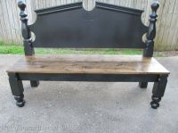 Rustic yet chic headboard bench | DIY Wood & Metal Ideas ...