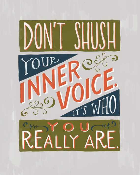 Don't Shush Your Inner Voice by emilymcdowelldraws