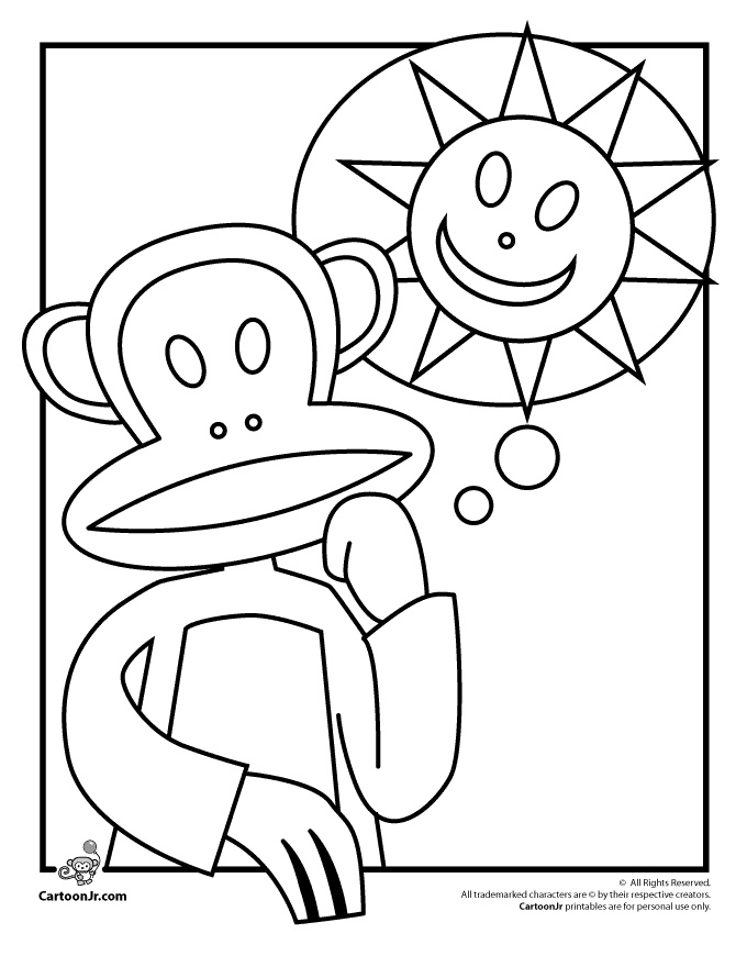 Coloring pages PAUL FRANK coloring pages