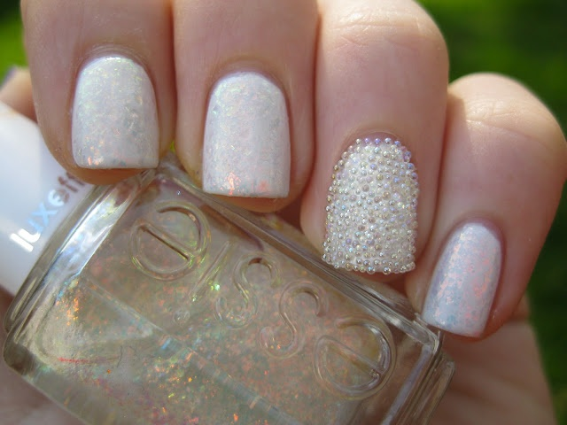 Opal and Caviar Manicure- Nailed It! 12 Nail Art Designs for Your Wedding Day