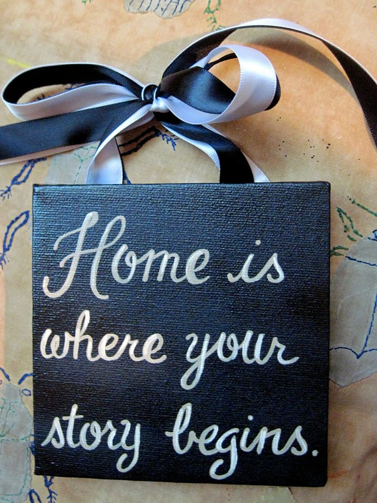 Home Quote Wedding Custom Canvas Sign. Love this for our new home!