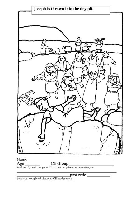 Bible Joseph In Egypt Coloring Pages Sketch Coloring Page