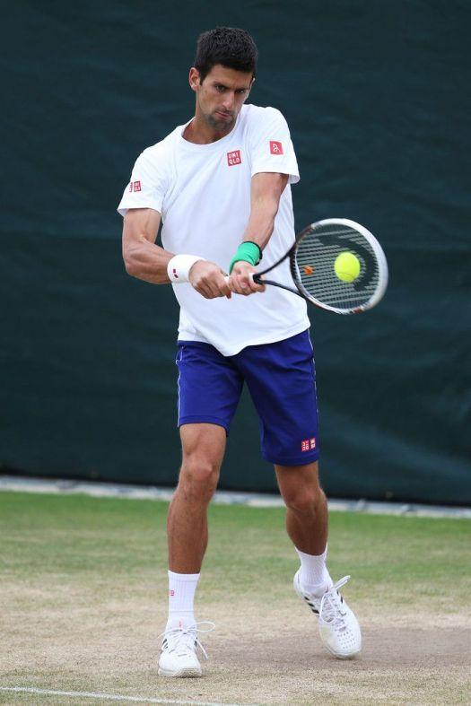 Novak Djokovic Photos: Wimbledon Tennis Championships: Day 8
