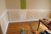 DIY chair rail and picture frame molding | No place like ...
