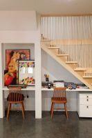 Under stairs desk   House   Pinterest