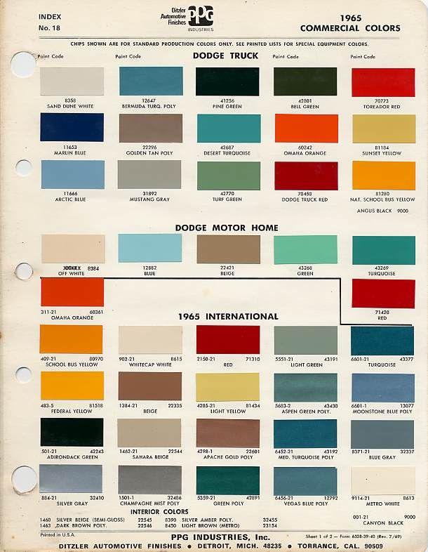 Valspar Automotive Paint Color Chart
