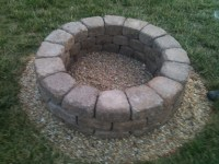 Homemade Fire Pit. With a little help from the Crist ...