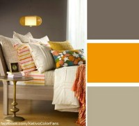 Brown And Mustard Yellow Living Room | Modern Diy Art Designs