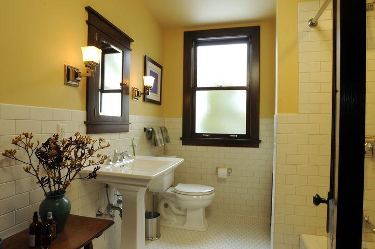 craftsman style bathroom  Remodeled Bathrooms  Pinterest