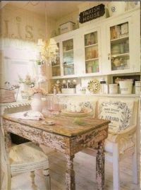 French country shabby chic kitchen | kitchens | Pinterest
