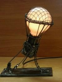 Hot air balloon light fixture | Steampunk | Pinterest