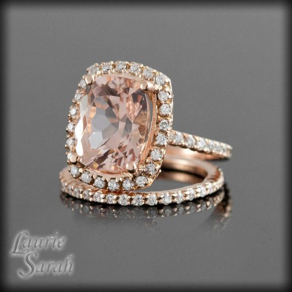 Rose Gold Rings: Morganite In Rose Gold Rings