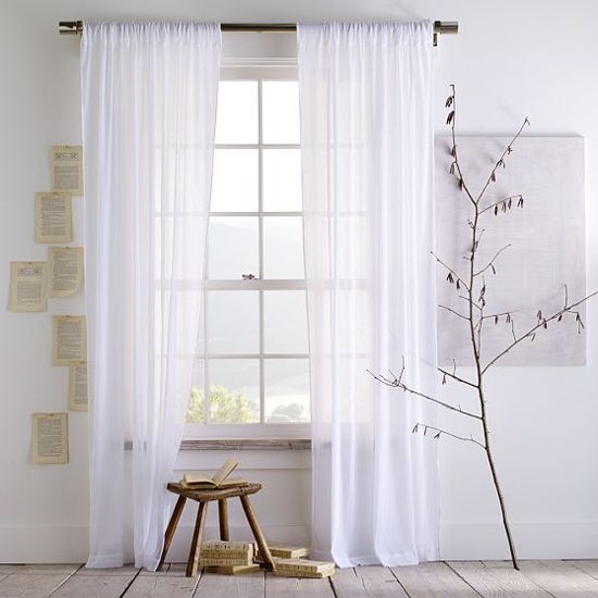 LOVE floorlength sheer curtains  Design and Decorating