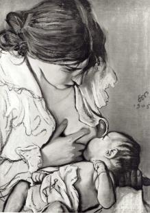"""""""Motherhood"""" by Stanisław Wyspiański, 1869-1907"""