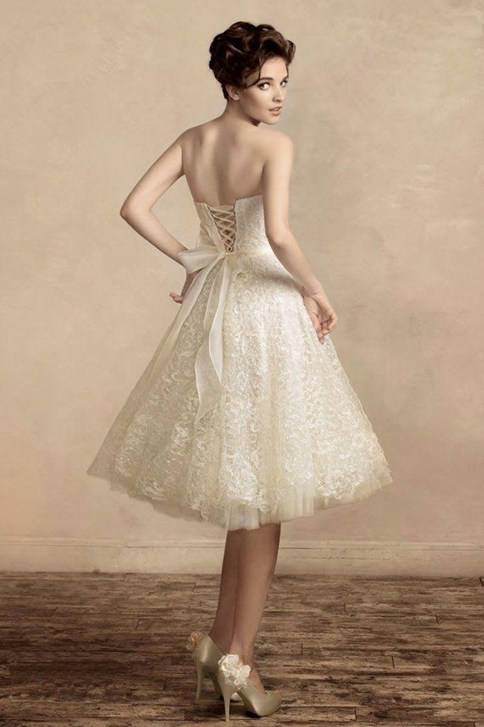 Short Corset Back Wedding Dresses  Beautiful Simple and Elegant