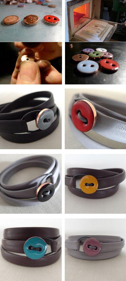 Cute button bracelets