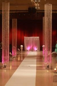 Crystal Columns | Winter Wedding | Pinterest