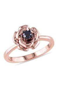 Rose Gold Ring: Rose Gold Ring Black Diamond