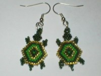 Turtle Earrings | beaded ear rings | Pinterest