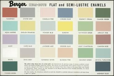 Ici Dulux Chart Color Paint
