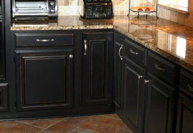 Black Distressed Kitchen Cabinets Diy