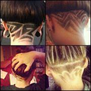 dope design nape cut girls