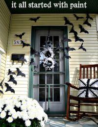 Bat door decoration | Halloween ideas | Pinterest