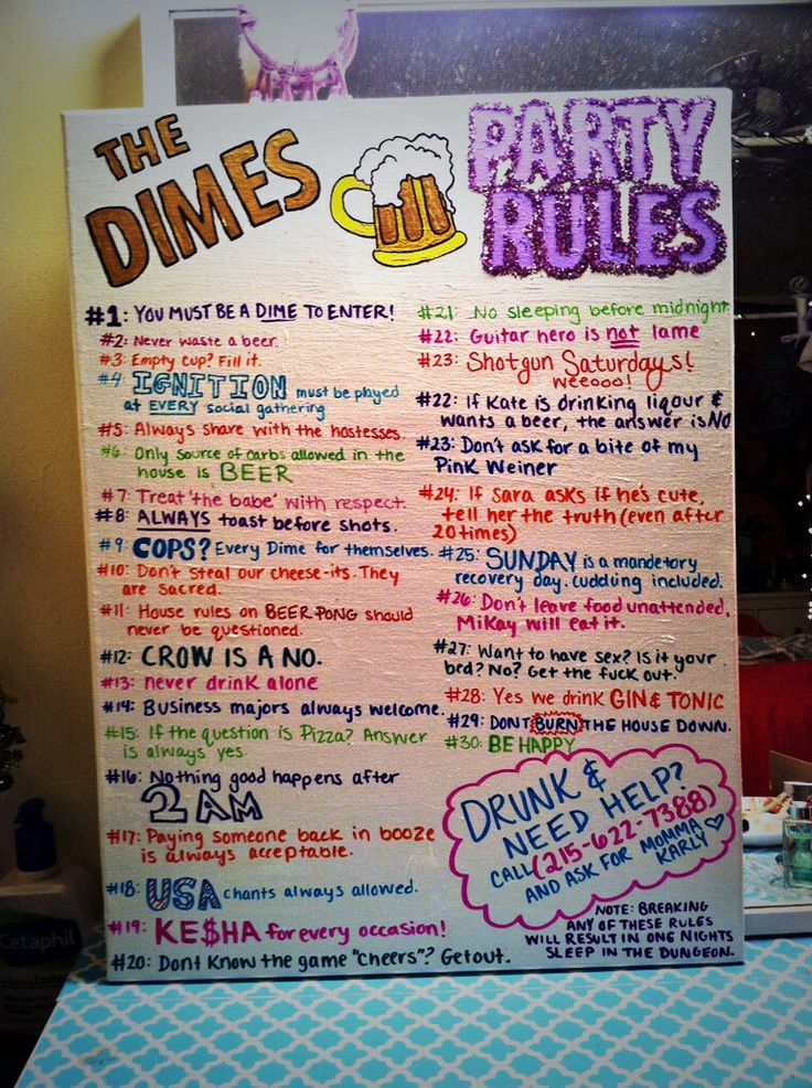College party rules softball house pinterest
