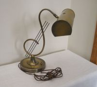 Vintage Antique Brass Treble Clef Piano Lamp - Desk Lamp