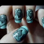 intricate nail art nails