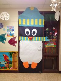 Christmas classroom door decoration: Penguin. Cute, cute ...