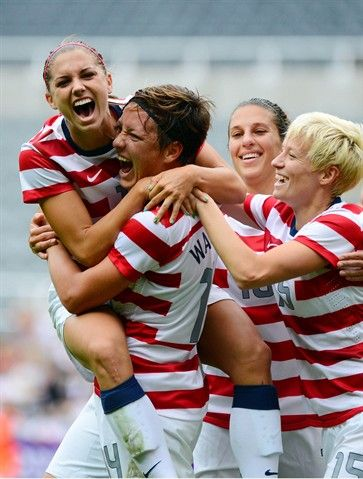 Abby Wambach scored her 142nd international goal today in Olympic quarterfinals vs. New Zealand