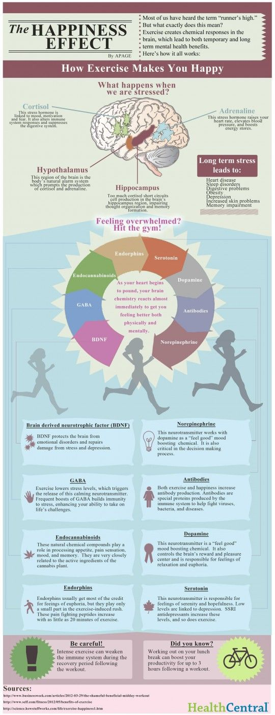 The neuroscience of how exercise makes you happy [infographic] - Your Brain Health