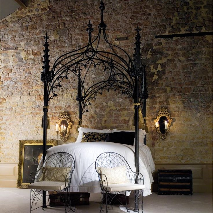 Jeanette's gothic canopy bed