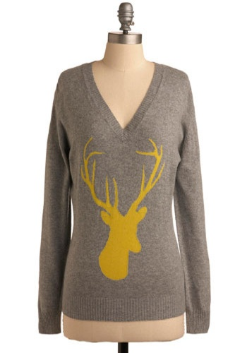 grellow. antlers. what's not to like?