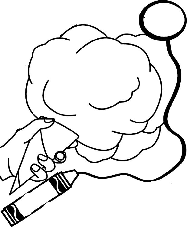 Circus Cotton Candy Coloring Pages Coloring Pages