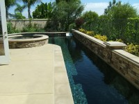 Long lap pool with attached circular spa | Pools and Spas ...