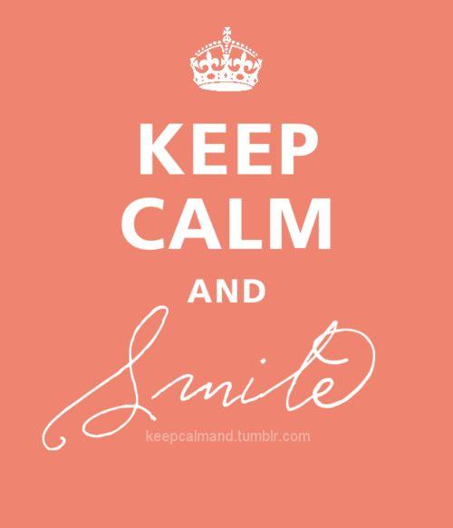 ... smile.