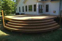Curved stairs deck | Decks | Pinterest