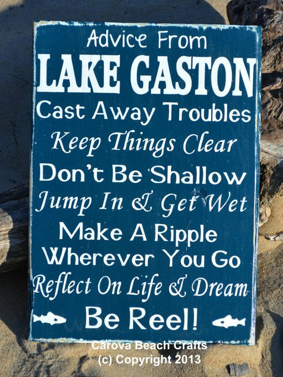 Lake House Decor Custom Lake Sign Lake Decor by CarovaBeachCrafts, $39.00