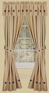 Danville Star 2 Curtain Window Panels Primitive Country ...