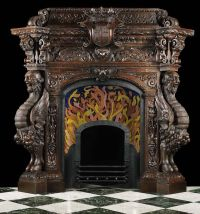 Antique carved Spanish mantel.