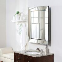 Beveled mirror frame medicine cabinet | Bathrooms | Pinterest