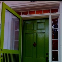 Green front door | home | Pinterest