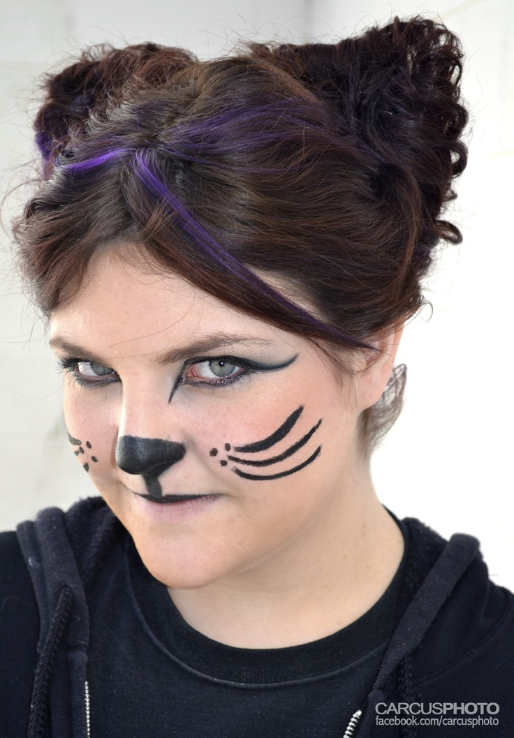 Cat face painting for halloween cat faces pinterest
