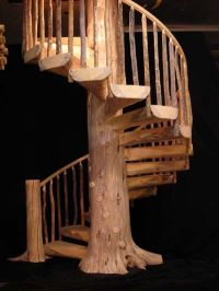 Tree-trunk spiral staircase... | God's Talented People ...